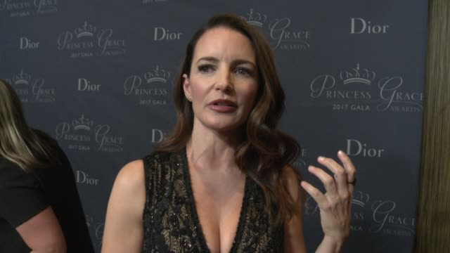 INTERVIEW Kristin Davis on why she wanted to host tonight's gala the importance of the Princess Grace Foundation at 2017 Princess Grace Awards Gala...