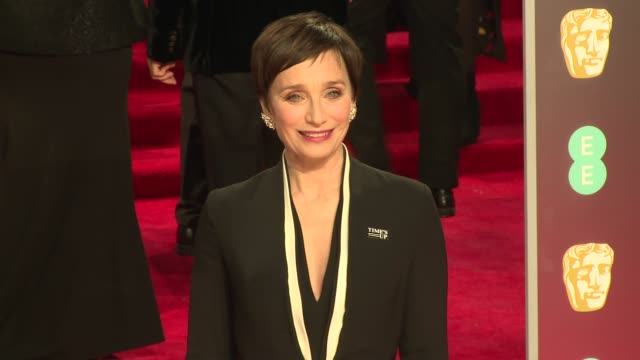 Kristin Scott Thomas at Royal Albert Hall on February 18 2018 in London England