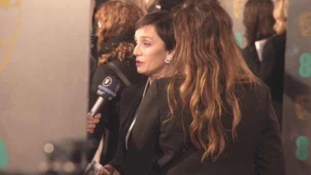 Kristin Scott Thomas at the EE British Academy Film Awards at Royal Albert Hall on February 18 2018 in London England