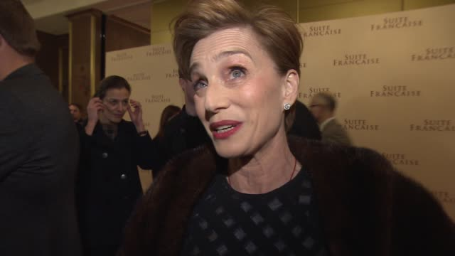 interview kristin scott thomas on taking on the film amazing script filming on location playing the queen jeremy clarkson at 'suite francaise' uk... - jeremy clarkson stock videos & royalty-free footage