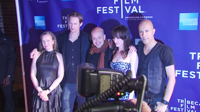 Kristina Aberg Alexander Skarsgard Tarik Saleh Juliette Lewis and Krister Linder at the Premiere Of 'Metropia' 9th Annual Tribeca Film Fest at New...