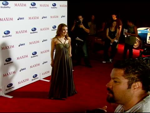 Kristina Anapau at the Maxim Magazine's ICU Event at Area in Los Angeles California on August 2 2007