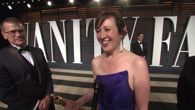 interview kristina reed at the 2015 vanity fair oscar party hosted by graydon carter at wallis annenberg center for the performing arts on february... - wallis annenberg center for the performing arts stock videos and b-roll footage