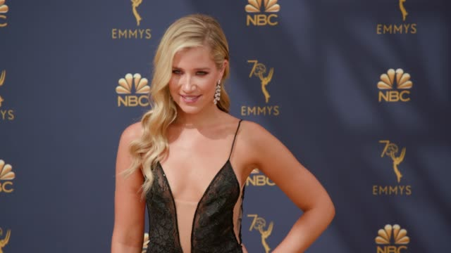 kristine leahy at the 70th emmy awards arrivals at microsoft theater on september 17 2018 in los angeles california - 70th annual primetime emmy awards stock videos and b-roll footage