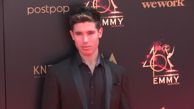kristos andrews at the 2019 daytime emmy awards at pasadena civic center on may 05 2019 in pasadena california - annual daytime emmy awards stock videos & royalty-free footage