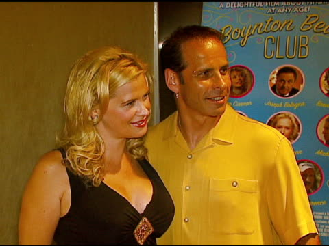 stockvideo's en b-roll-footage met kristy swanson and lloyd eisler at the 'boynton beach club' los angeles premiere at silver screen theater @ the pacific design center in west... - filmscreening