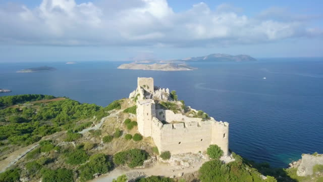 kritinia castle - rhodes dodecanese islands stock videos & royalty-free footage