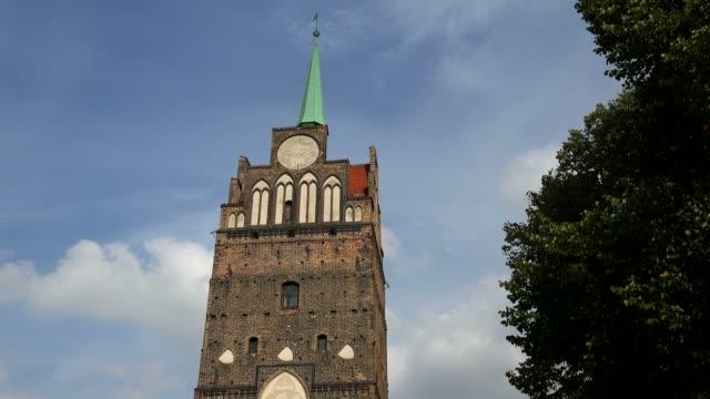 kroepeliner tor, rostock, mecklenburg-western pomerania, germany - circa 13th century stock videos & royalty-free footage