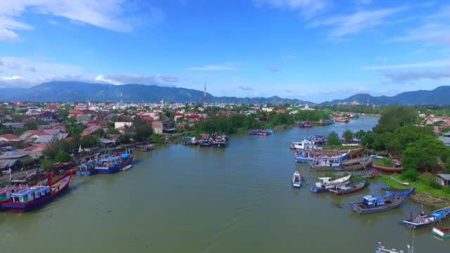 krueng river aceh. - trawler stock videos & royalty-free footage