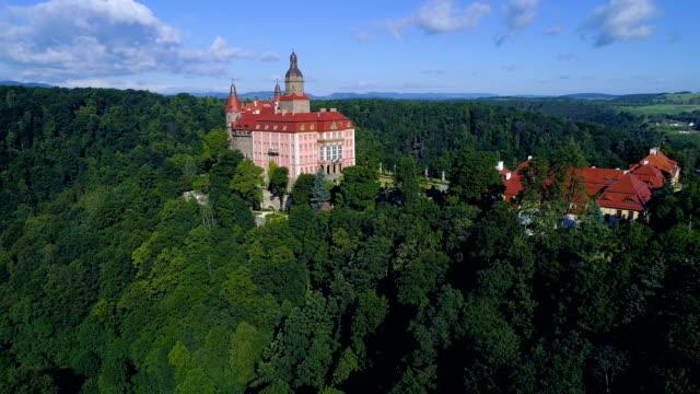 ksiaz castle - castle stock videos & royalty-free footage