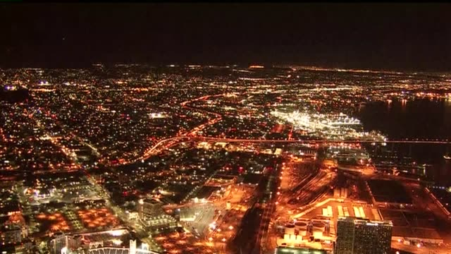 Aerial View of Downtown San Diego at Night