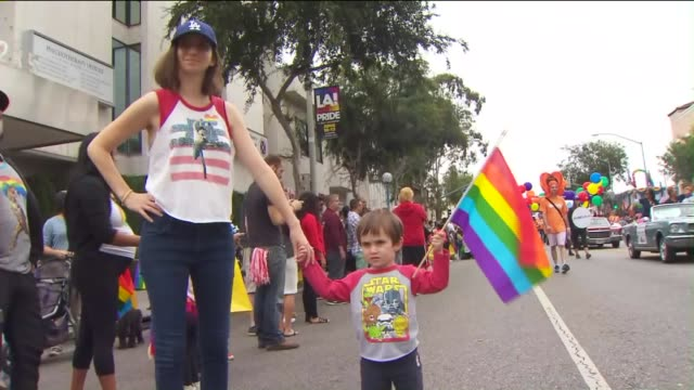 ktla46th annual la pride festival in west hollywood - west hollywood stock videos & royalty-free footage
