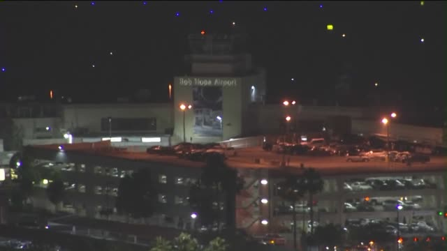 Aerial View of Bob Hope Airport in Burbank
