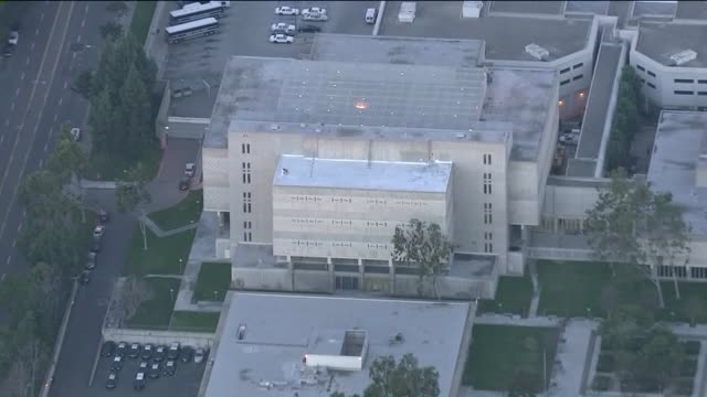 aerial view of men's central jail in santa ana - public building stock videos & royalty-free footage