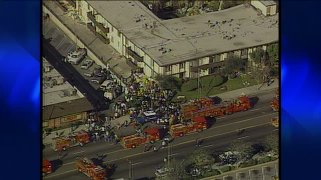 aerial view of northridge earthquake damage - 1994 stock videos & royalty-free footage