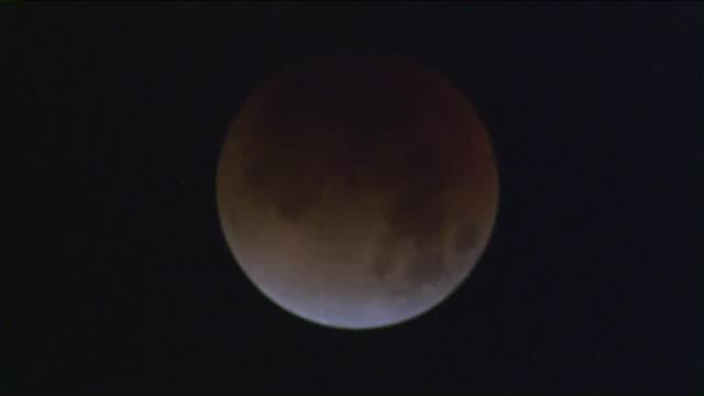 aerial view of super blue blood moon. - rymd och astronomi bildbanksvideor och videomaterial från bakom kulisserna
