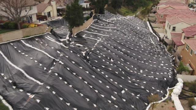 drone canyon country rain preps - santa clarita valley stock videos & royalty-free footage