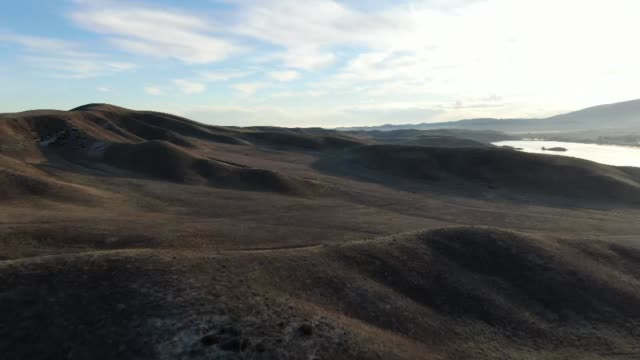 drone pov fort tejon state park - state park stock videos & royalty-free footage
