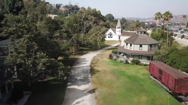Drone POVHeritage Square Museum