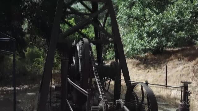 drone pov mentryville park - santa clarita stock videos & royalty-free footage