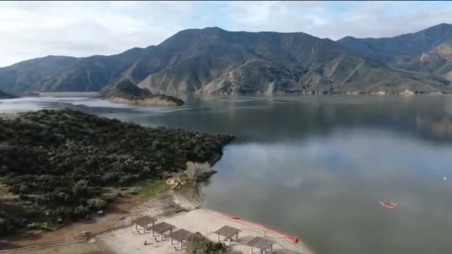 drone povpyramid lake - castaic lake stock videos and b-roll footage