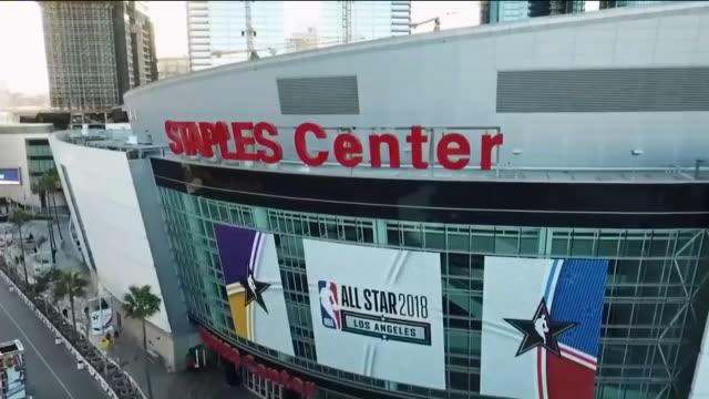 Drone POV Staples Center