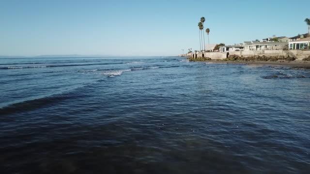 drone pov ventura pier and beach - ventura stock videos and b-roll footage