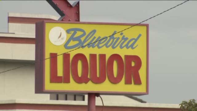 exterior of bluebird liquor store in hawthorne - liquor store stock videos and b-roll footage
