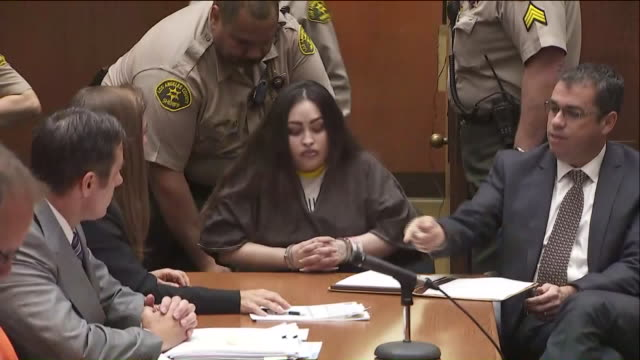 gabriel fernandez's mother was sentenced to life in prison without the possibility of parole on thursday while her boyfriend was sentenced to death... - 法廷審問点の映像素材/bロール