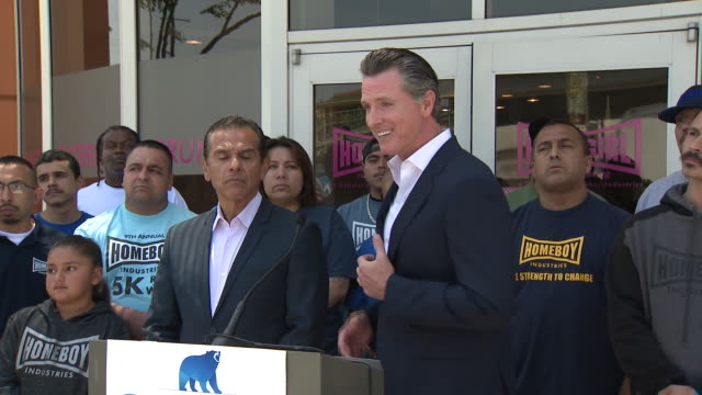 gavin newsom and antonio villaraigosa. - governor stock videos & royalty-free footage