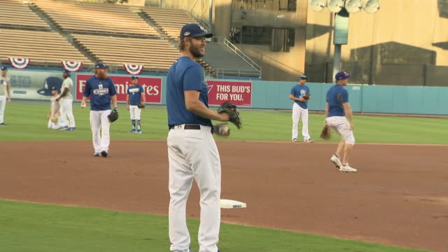 Los Angeles Dodgers workout for upcoming NLCS against the Milwaukee Brewers