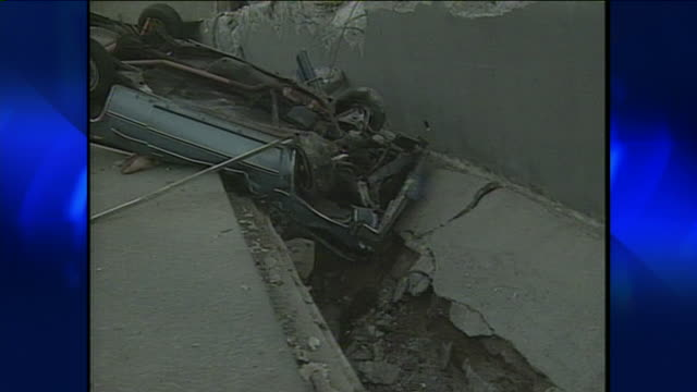 northridge earthquake damage - 1994 stock-videos und b-roll-filmmaterial