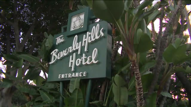 the beverly hills hotel. - beverly hills hotel stock videos & royalty-free footage