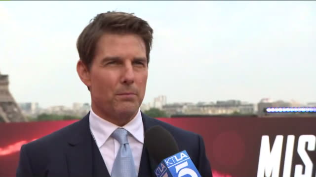 impossible fallout premiere in paris - tom cruise stock videos & royalty-free footage