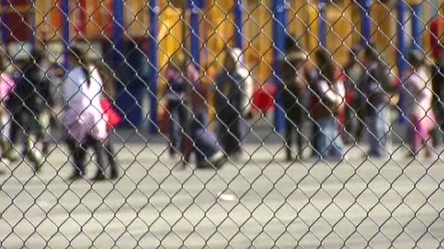 children in a schoolyard - playground stock videos & royalty-free footage