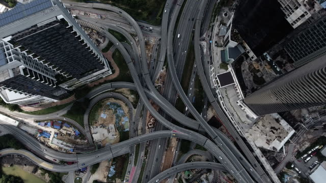 クアラルンプール空中高速道路ジャンクション - クアラルンプール点の映像素材/bロール