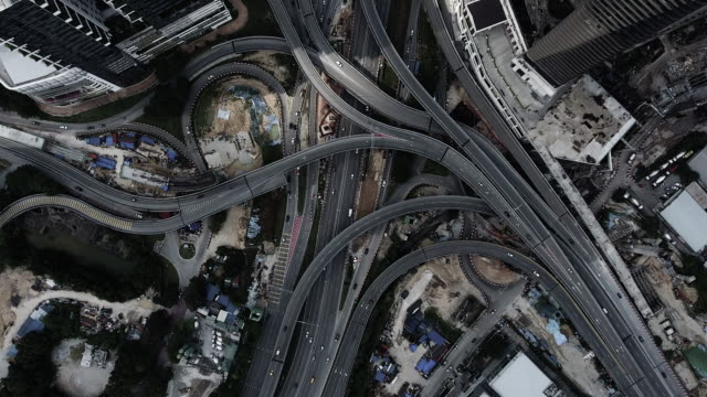kuala lumpur aerial highway junction - malaysia stock videos & royalty-free footage