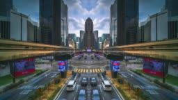 Kuala Lumpur city mirror effect time lapse
