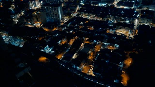 stockvideo's en b-roll-footage met kuala lumpur stadsgezicht bij nacht - maleisië