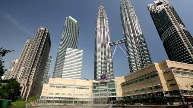 klcc kuala lumpur malaysia petronas towers - hyatt stock videos & royalty-free footage