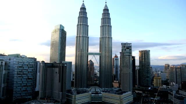 kuala lumpur petronas towers malaysia asia travel - kuala lumpur stock videos & royalty-free footage