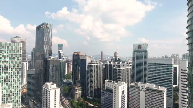 kuala lumpur skyline - petronas towers stock videos and b-roll footage
