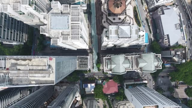 kuala lumpur skyscrapers from adove view - public building stock videos and b-roll footage