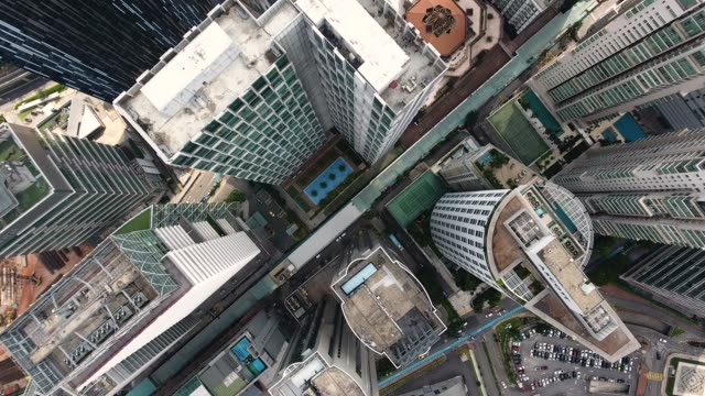 kuala lumpur skyscrapers from adove view - national landmark stock videos & royalty-free footage