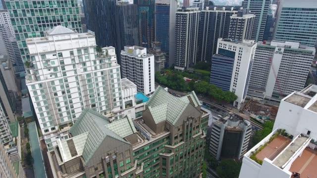 上記からクアラルンプールの高層ビルを表示します。 - メナラクアラルンプールタワー点の映像素材/bロール