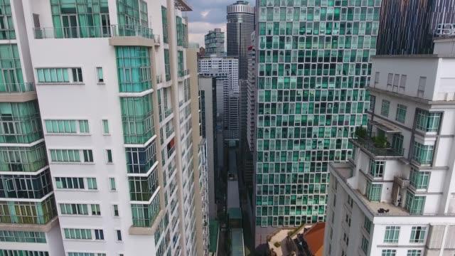 kuala lumpur skyscrapers from adove view - menara kuala lumpur tower stock videos & royalty-free footage