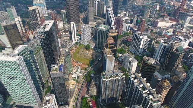 Kuala Lumpur skyscrapers from adove view