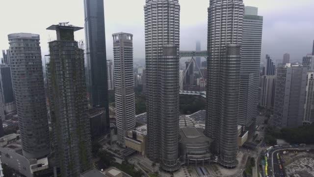 vidéos et rushes de gratte-ciel de kuala lumpur de waa vue - tour menara kl