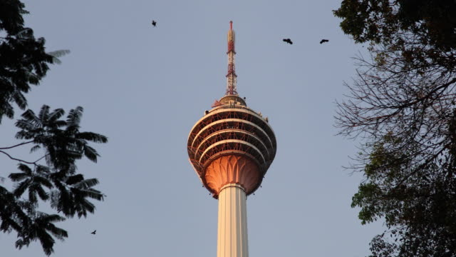 kuala lumpur tower - menara kuala lumpur tower stock videos and b-roll footage