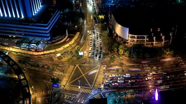 Kuala Lumpur Traffic Time Lapse at Night